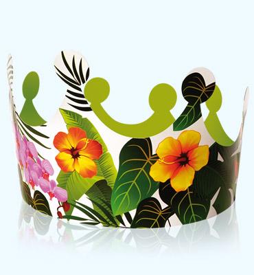"""Alcara - couronne """"roi reine des tropiques"""""""