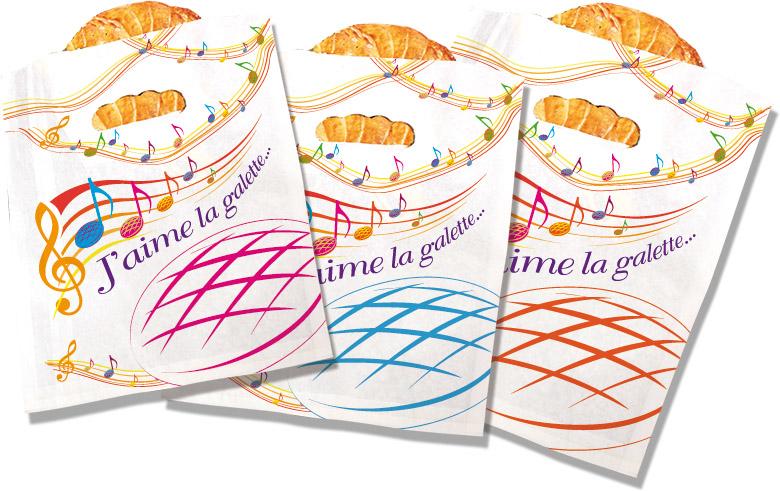 """Sacs à galette """"J'aime la galette"""" - Alcara - Epiphanie 2022"""