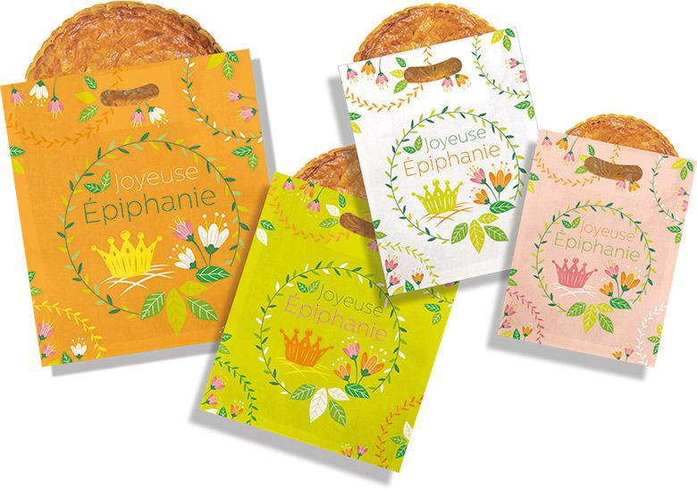 """Sacs à galette """"Floral"""" - Une nouveauté Alcara pour l'épiphanie 2022"""